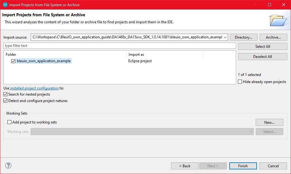 Select bleuio_own_application_example!