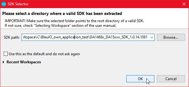 Selecting SDK in Smart Snippet Studio!